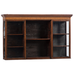 Continental Inlaid Hanging Bookcase