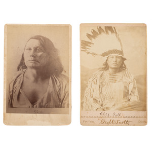 Chief Gall, Hunkpapa Lakota, Two Cabinet Card Photographs