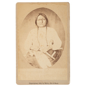 Sitting Bull Cabinet Card by Bailey, Dix & Mead