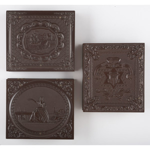 Trio of Sixth Plate Union Cases Containing Portraits of Soldiers [Berg 1-52, 1-59, 1-66]