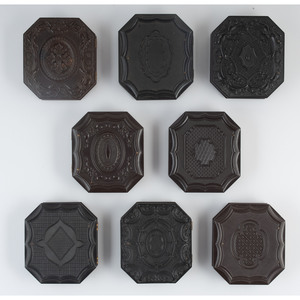 Eight Sixth Plate Octagonal Geometric Union Cases Including One Very Rare Example, Containing Portraits of Men