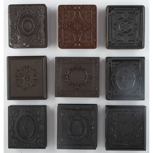 Nine Sixth Plate Geometric Union Cases, Including Very Rare Examples, Some Containing Daguerreotypes