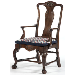 Irish Chippendale-style Armchairs