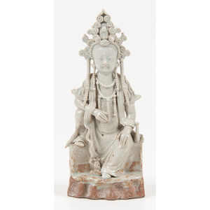 Celadon Glazed Guanyin Statue
