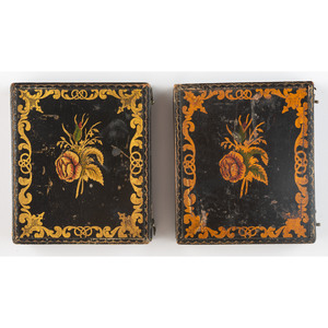 Two Very Very Rare Wooden Sixth Plate Cases [Berg 6-253/6-254, 6-261/6-262]