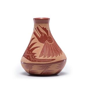 Camilio Sunflower Tafoya (Santa Clara, 1902-1995) Sgraffito Pottery Seed Jar Jar