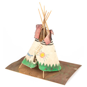 Plains Painted Model Tipi