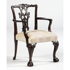 A Chippendale-style Armchair in Mahogany