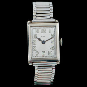 Elgin 14k White Gold Wristwatch