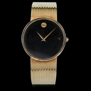 Movado 14k Gold Museum Wristwatch