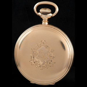 Rockford Pocket Watch in 14k Gold with 14k Chain