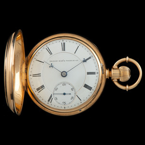 Elgin 18k Gold Pocket Watch with 14k Chain