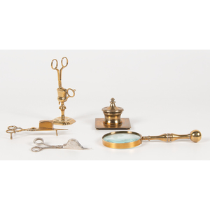 Brass Candle and Desk Accessories