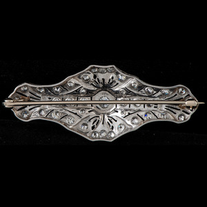 Edwardian Platinum Diamond Brooch