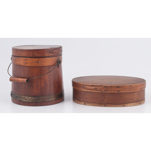 Banded Pantry Box and Firkin