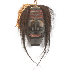 He Keeps Ice (Haudenosaunee, 20th century) Carved Wood Mask