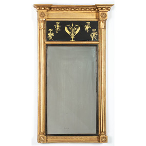 Giltwood Mirror with Eglomise Panel