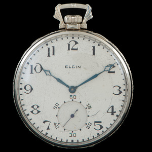 Elgin 14k White Gold Pocket Watch