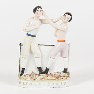 Heenan & Sayer Staffordshire Boxing Figure