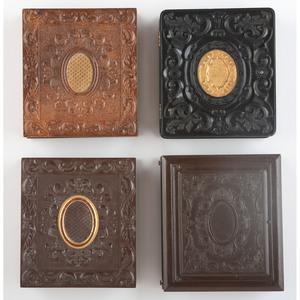 Four Rare Sixth Plate Geometric Union Cases [Berg 3-90G, 3-101, 3-103G, 3-103G2]