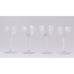 Etched Glass Goblets