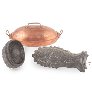 Tin Molds and a Copper Dish