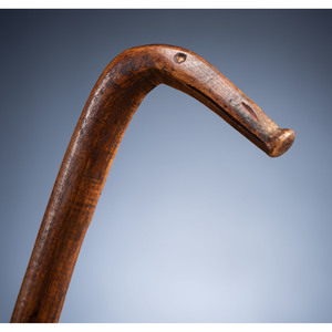 Anishinaabe (Ojibwe) Figural Drum Beater, From the Collection of Thomas Amble, Minnesota