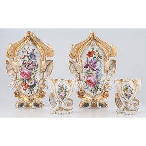Paris Porcelain Gilt Vases