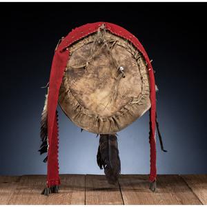 Apache Beaded Hide Dance Shield