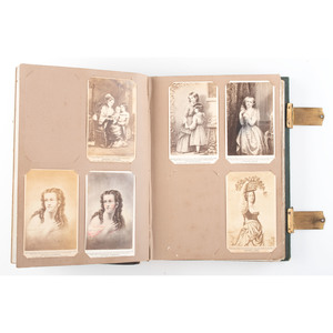 CDV Album and Rectangular Wall Frame