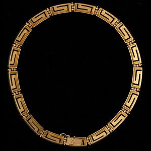 18k Gold Greek Key Motif Necklace