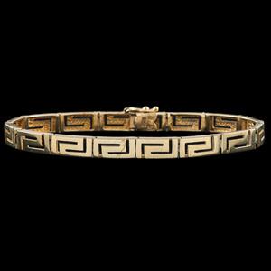 14k Gold Greek Key Motif Bracelet