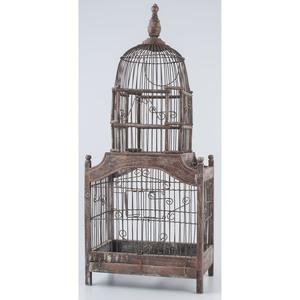 Wood and Wire Bird Cage