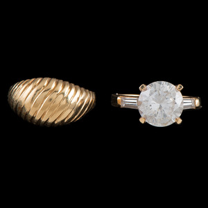 14k Gold Rings, Lot of Two
