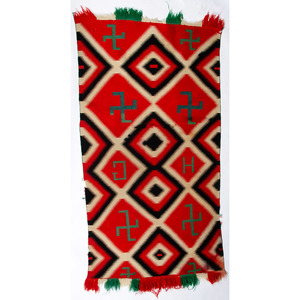 Navajo Germantown Weaving / Rug, From the Stanley Slocum Collection, Minnesota
