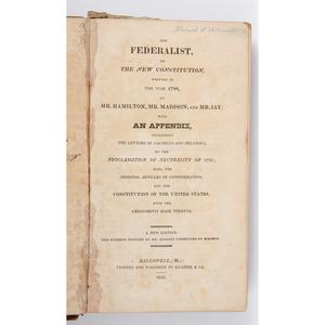 [Americana - Maine Imprint ] Federalist -  Printed in Hallowell, Maine1826