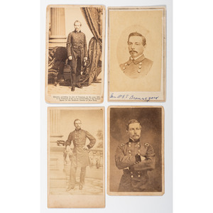 Four CDVs of General P.G.T. Beauregard, Including Two by Quinby, Charleston, SC, and One Uncommon Bust View