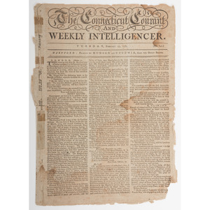 [Americana - Military History] Revolutionary War Newspaper, 1781, Reporting on Benedict Arnold and Major Andre, Plus Runaway Slave Notice