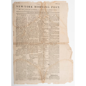 [Americana - President Washington] George Washington's Farewell Address Published in New-York Morning Post, 1783