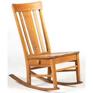 Child's Rocking Chair with Drawer
