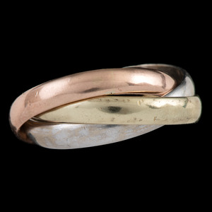 14k Tricolor Gold Rolling Ring