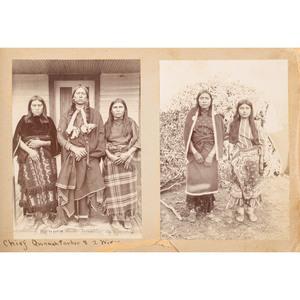 Exceptional Irwin & Mankins Photograph Album of Kiowa and Comanche Indians, Incl. Quanah Parker