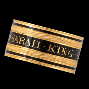 22K Gold Mourning Ring