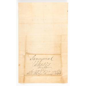 Castleton, Vermont Medical School, 1844 Manuscript Thesis on Peritonitis
