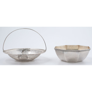 Theodore Starr Sterling Basket & Meriden Bowl