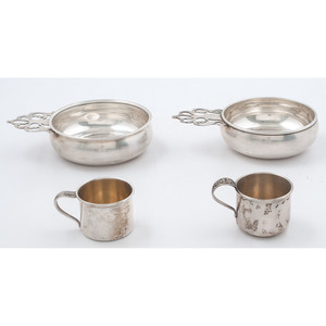 Sterling Porringers and Cups