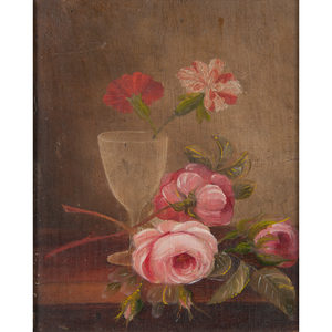 Still Life with Roses, Oil on Board