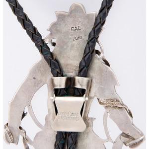 Eddie Beyuka (Zuni, 1920-2002) Mosaic Inlay Snake Dancer Bolo Tie