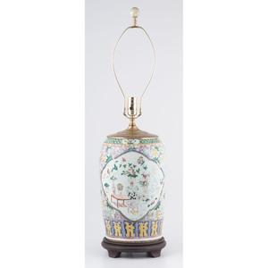 Famille Rose Jar Lamp