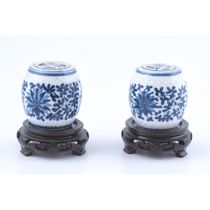 Chinese Blue and White Porcelain Miniature Jars